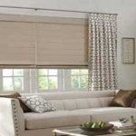 DRESSING for LOFT WINDOWS – A combination of Artisan Roman Shades and Drapes