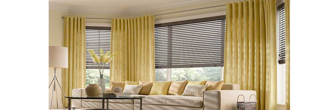 combining blinds and curtains