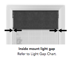 Dual Shades Inside Mount Light Gap - ZebraBlinds.com