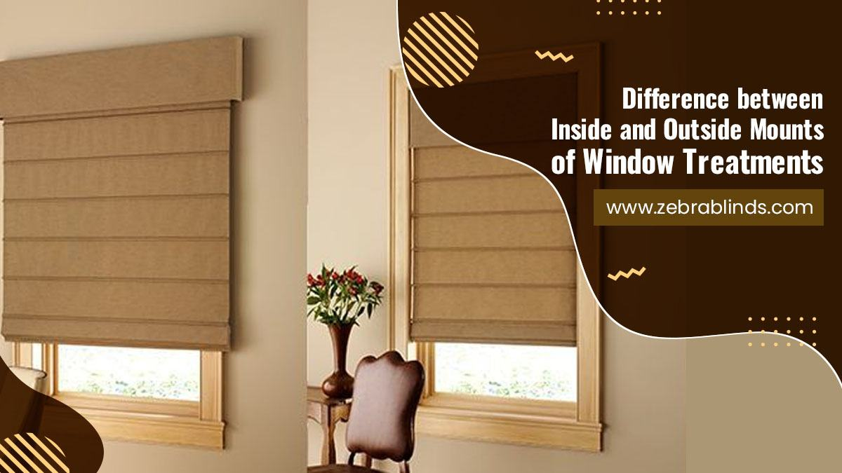 Difference Between Inside and Outside Mounts of Window Treatments