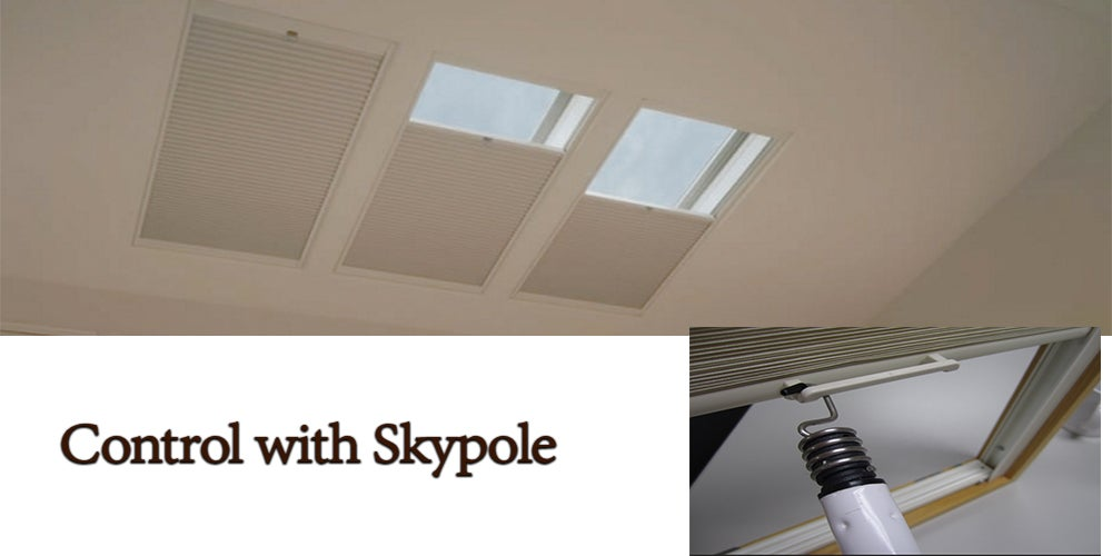 Skylight-Shades-with-Skypoles - ZebraBlinds.com