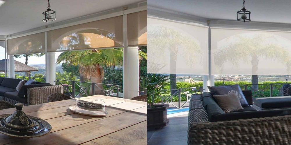 Crown Exterior Solar Shades available with Bungee hold downs
