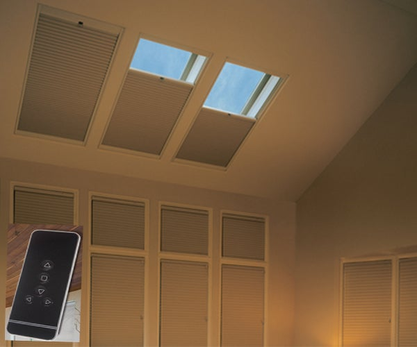Motorized-Skylight-Blackout-Cellular-Shades-Crown - ZebraBlinds.com