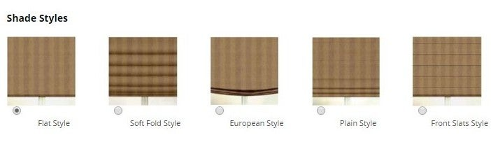 Diffe Styles Of Roman Shades