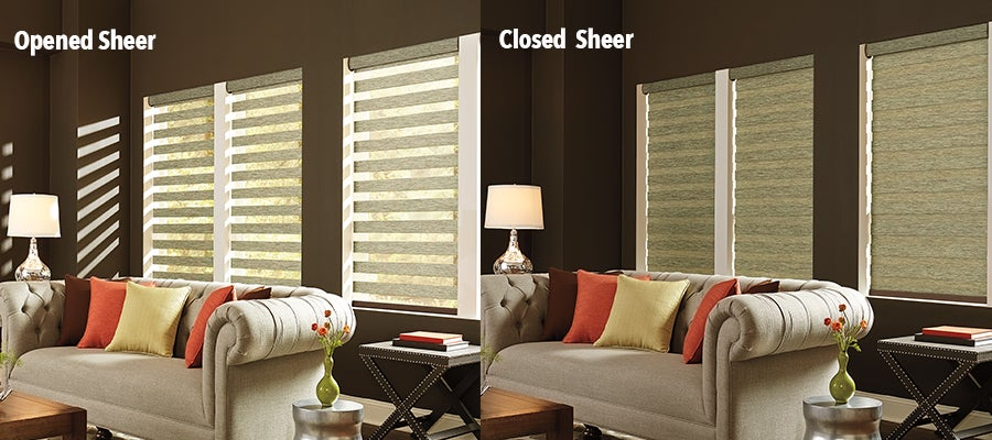 Graber Mezzanine Layered Zebra Sheer Shades - ZebraBlinds.com