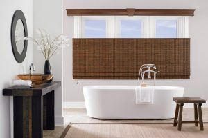 Woven wooden blinds for Bathroooms