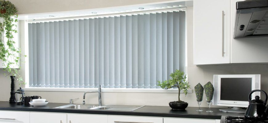 Vertical Window Blinds for Kitchen