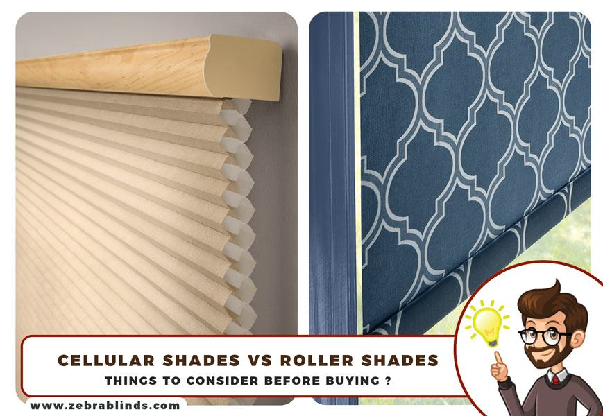 Cellular Shades vs Roller Shades