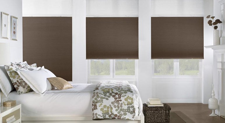 Cellular Honeycomb Shades In Bedroom
