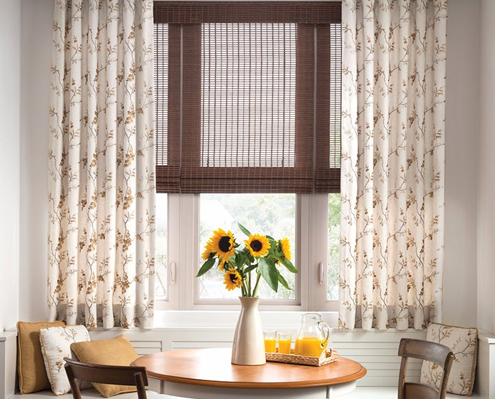 Draperies on recessed windows on recessed windows