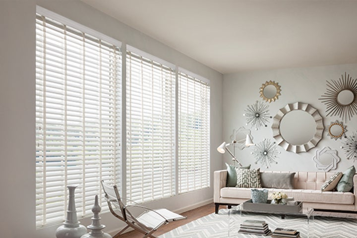 Faux wood blinds for Non recessed windows