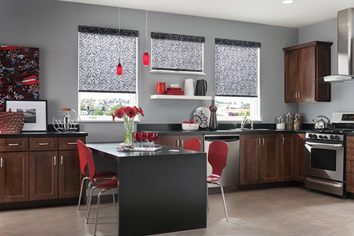 Roller shades for Non recessed windows