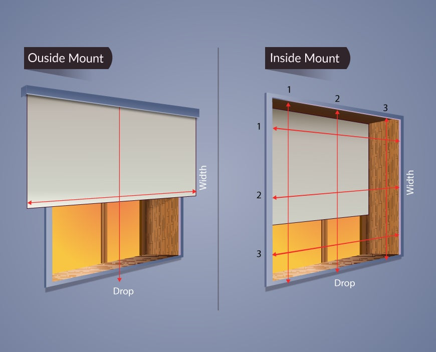 How to measure recessed windows