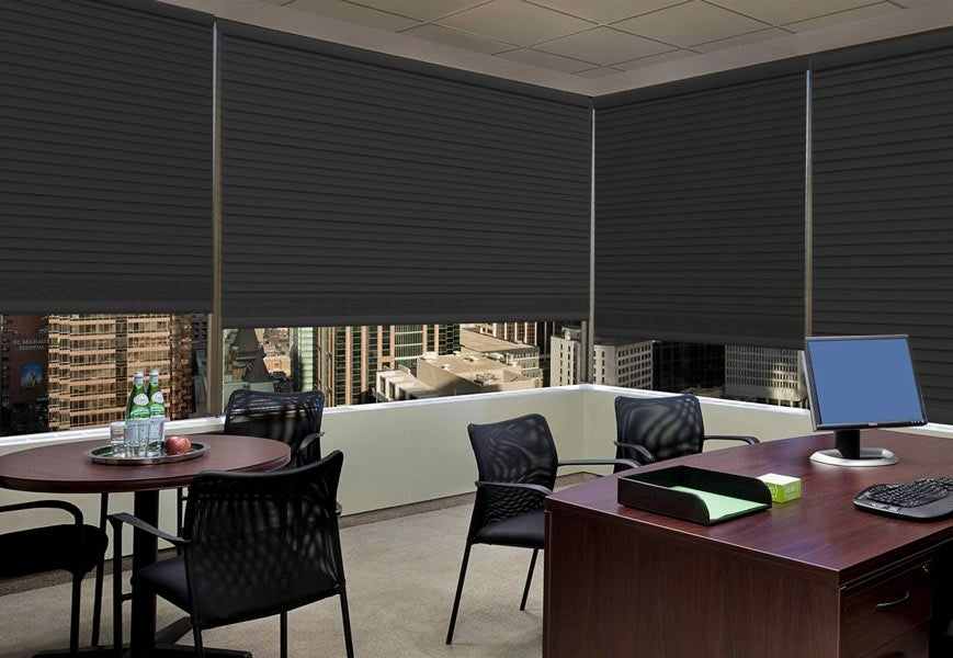 Blackout-Shades-For-Work-space - Zebrablinds.com