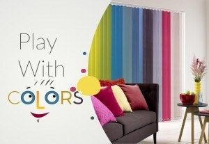 Colorful-Roman-Shades - Zebrablinds.com