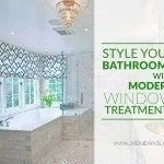 Style Your Bathrooms With Modern Window Treatments