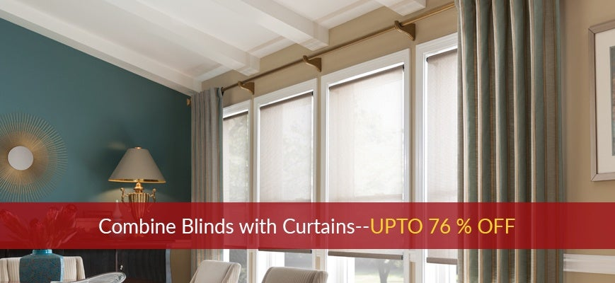 Combine Blinds with Curtains