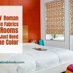 New Roman Shade Fabrics for Rooms That Just Need Some Color