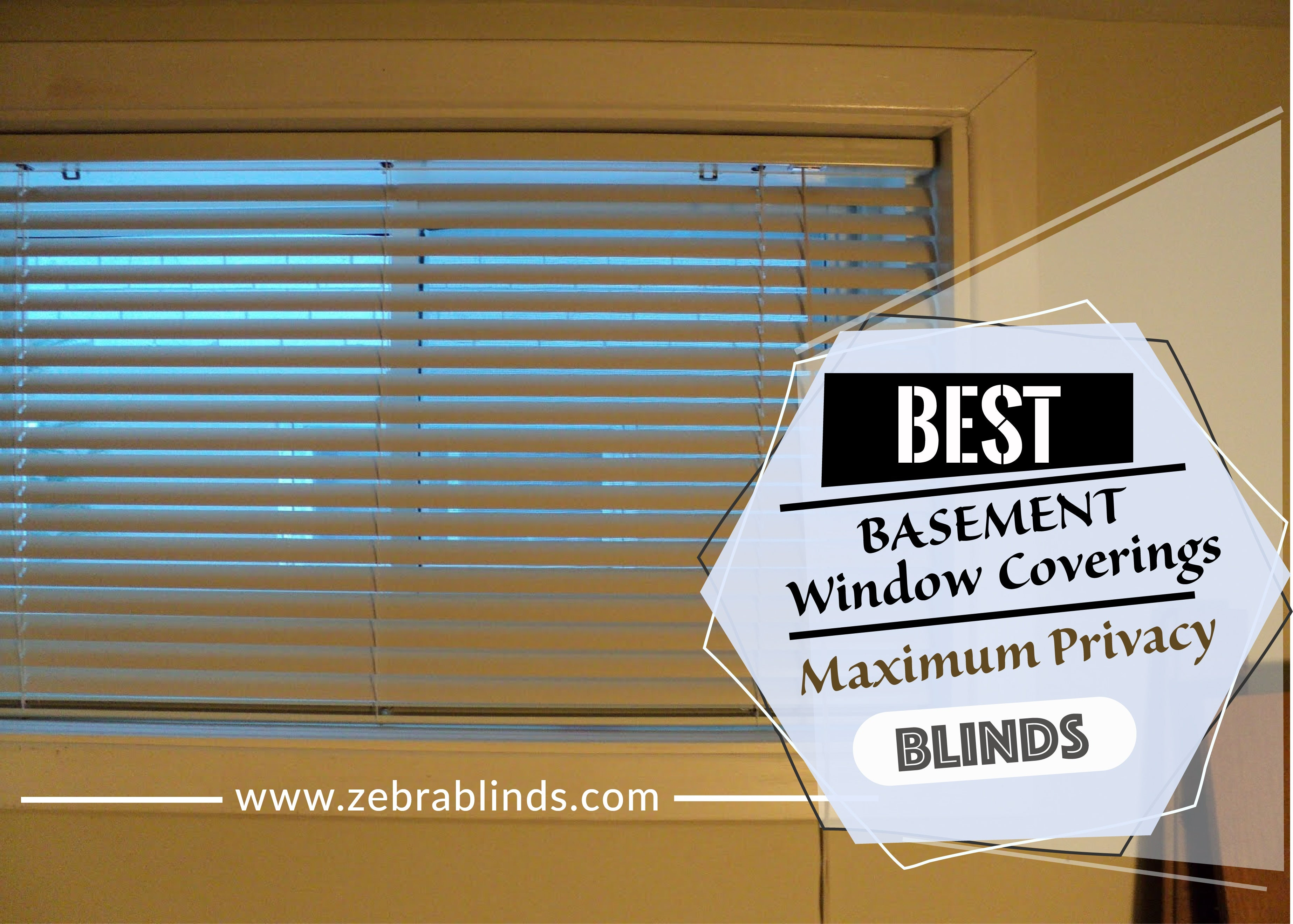 Top Basement Window Treatment Ideas Maximum Privacy Blinds