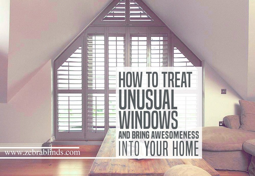 How To Treat Odd Window Treatments And Bring Awesomeness