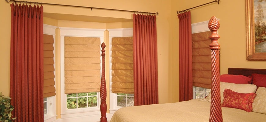 Curtains with Brown Blinds