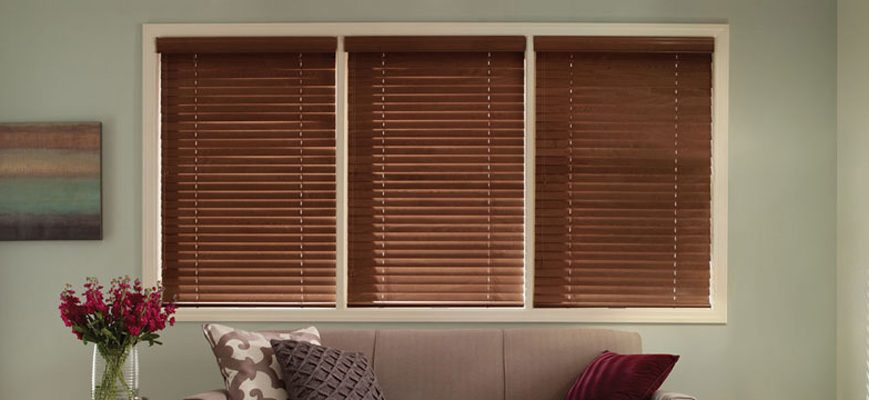 Custom 2-inch Faux Wood Blinds