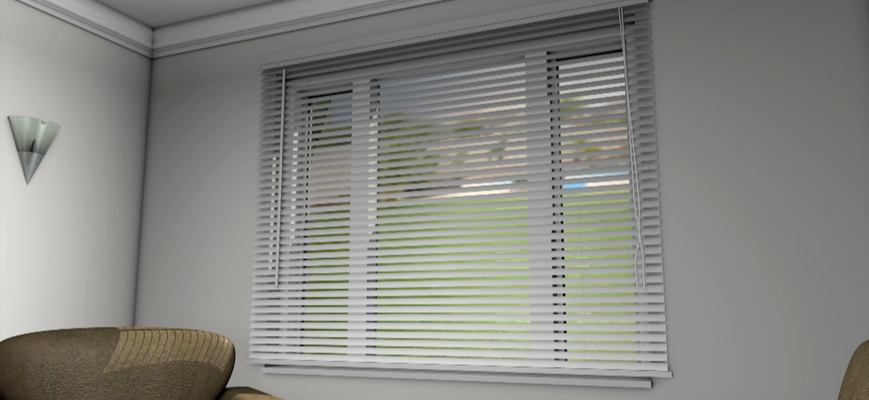 Venetian Blinds Outside Window Frame