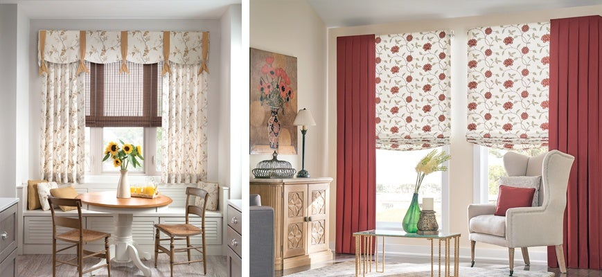 Drapes with Blinds