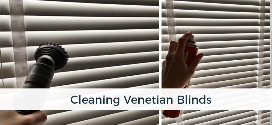 Cleaning Venetian Blinds