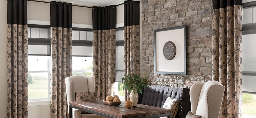 Curtains And Blinds Together Ideas