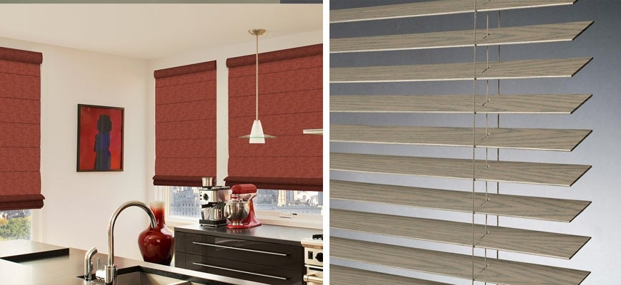 Faux Wood vs Roman Shades