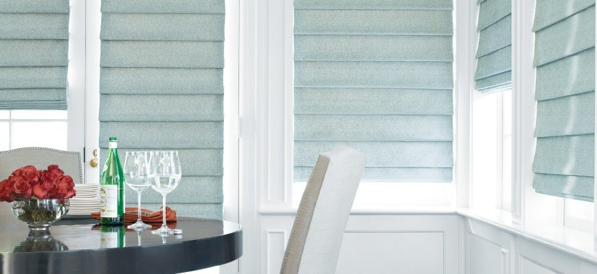 Roman Blinds And Curtains In Same Room