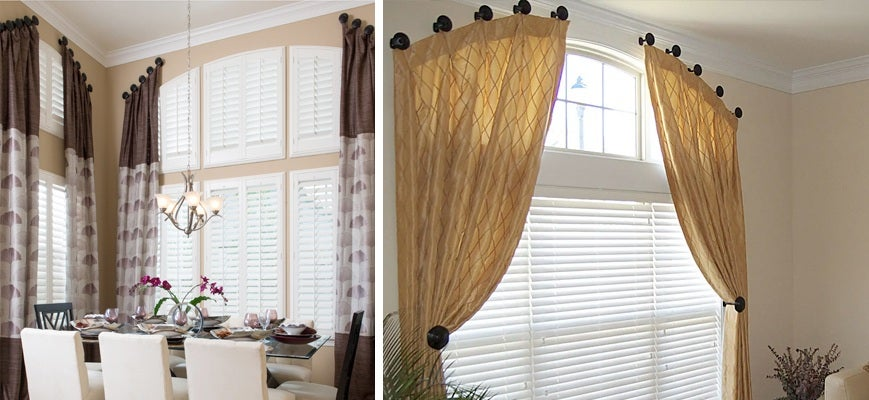 Shutters With Draperies