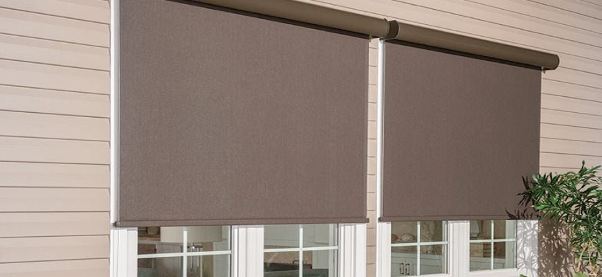 Exterior Roller Solar Window Shades For Your Outdoors