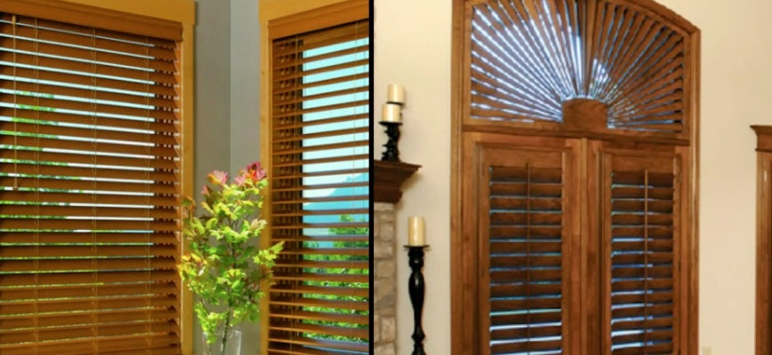 Faux Wood Plantation Blinds For French Doors