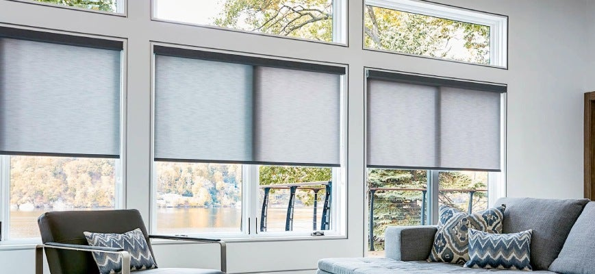Home Office Window Treatments - Roller Shades