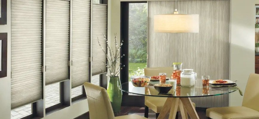 Home Office Window Treatments - Vertical Honeycomb Cellular Shades