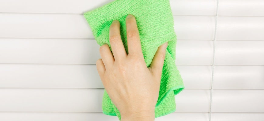 Cleaning Faux Wood Blinds