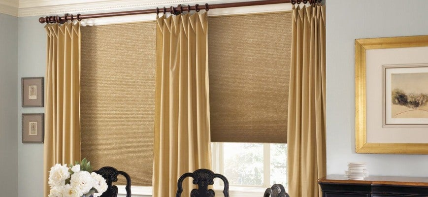 How To Hang Curtains Over Cellular Shades
