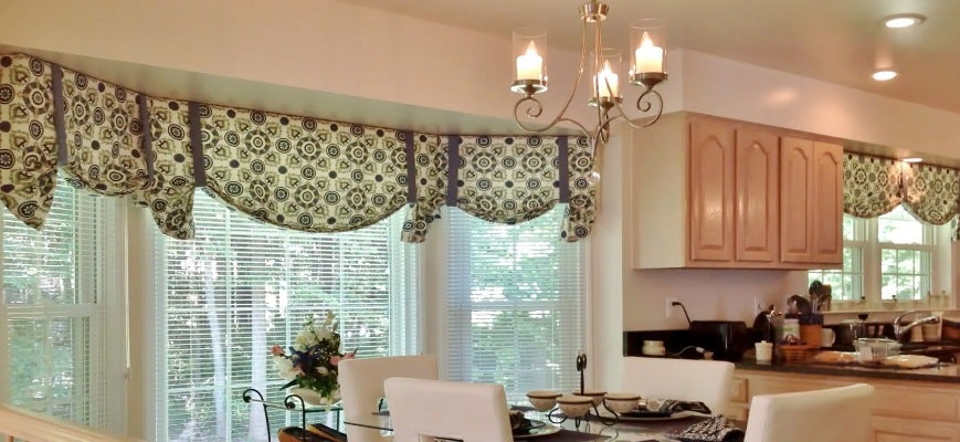 Elegance And Sophistication Combined With Bay Window Roman Shades