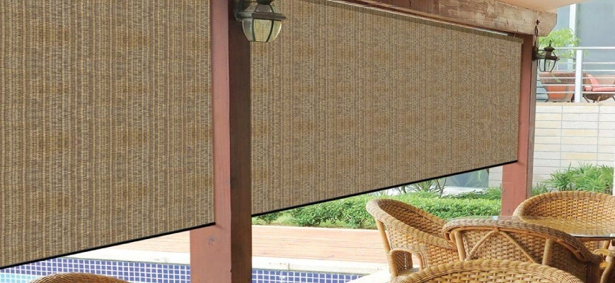Wooven Fabric Outdoor Shades