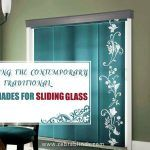 Combining The Contemporary And The Traditional: Panel Shades For Sliding Glass Doors