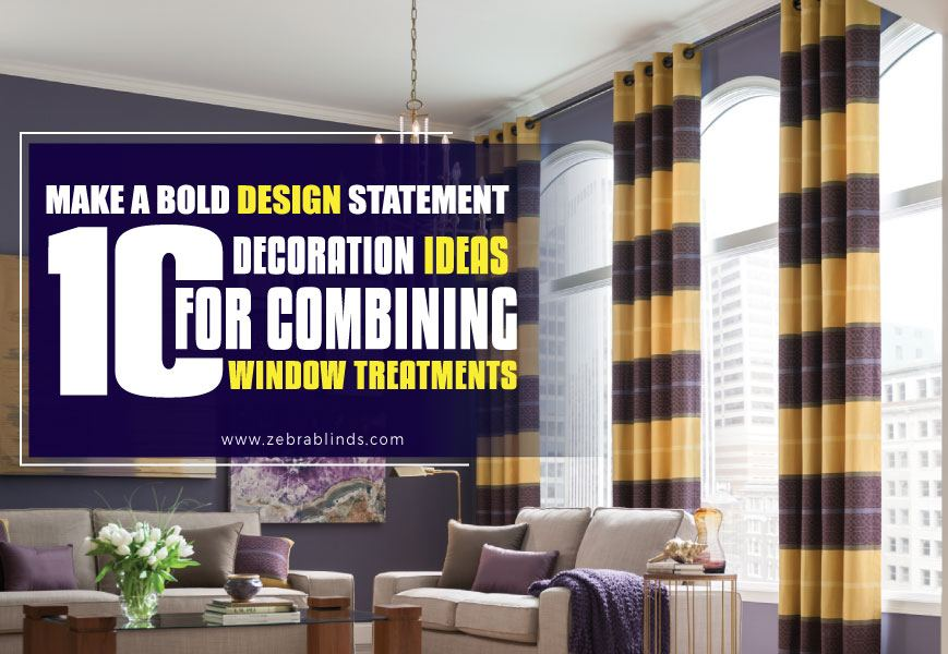 10 Decoration Ideas For Curtains with Blinds on Same Window