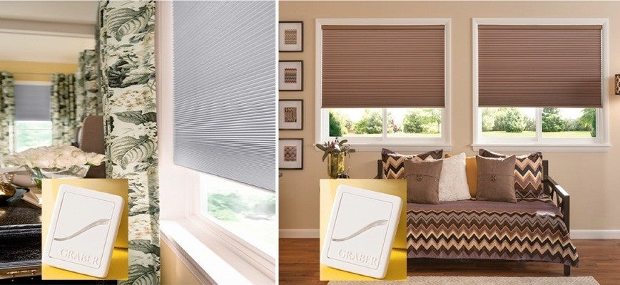 Virtual Cord Single and Double Cell Honeycomb Shades