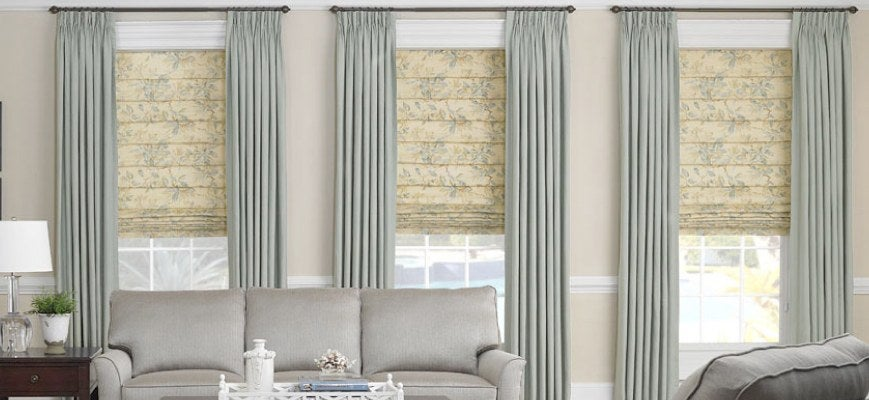 Roman Shades with Draperies