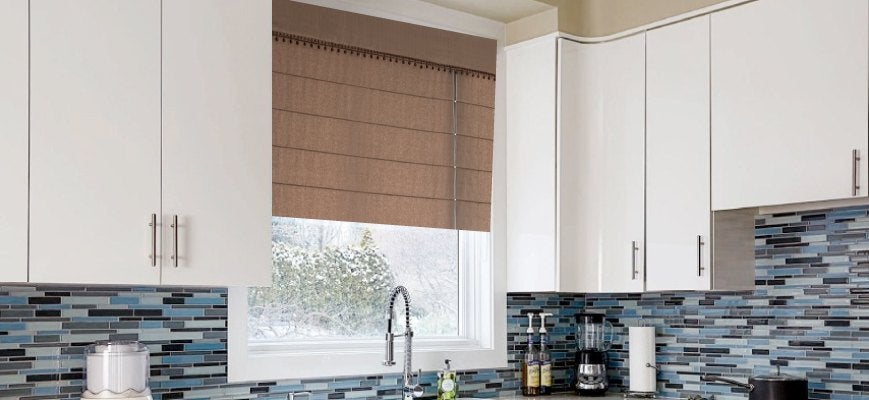 Z wave Roman Shades For Your Kitchen Window