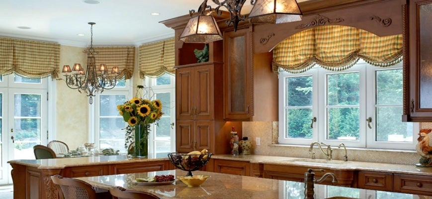 Wood Valance For Your Kitchen Window