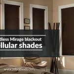 Cordless Mirage Blackout Cellular Shades
