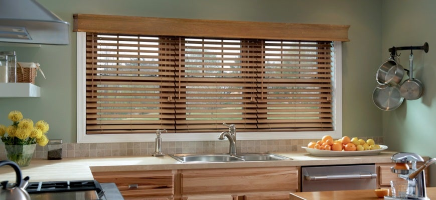 Faux Wood Blinds For Your Kitchen Window