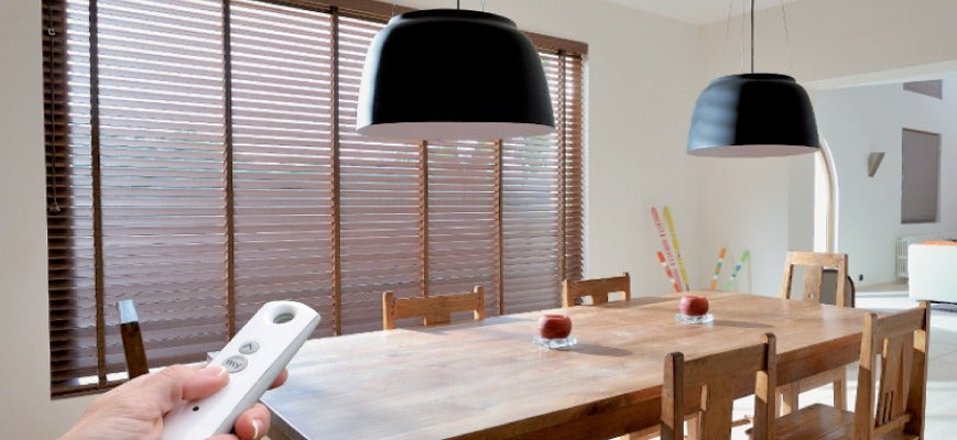Smart Motorized Natural Shades